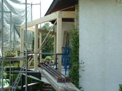 Bau eines Wintergartens a