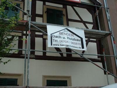 Reparaturen an einem Bauernhaus von 1754: Fachwerksanierung