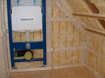 Innenausbau: Holzrahmenbau mit Isolierung und Rigips II