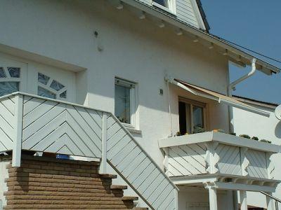 Balkon und Treppengeländer