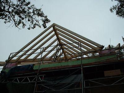 Umbau: wie aus einem alten Gebälk ein moderner Dachstuhl wird V